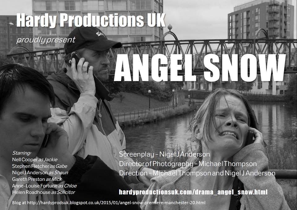 angel snow poster