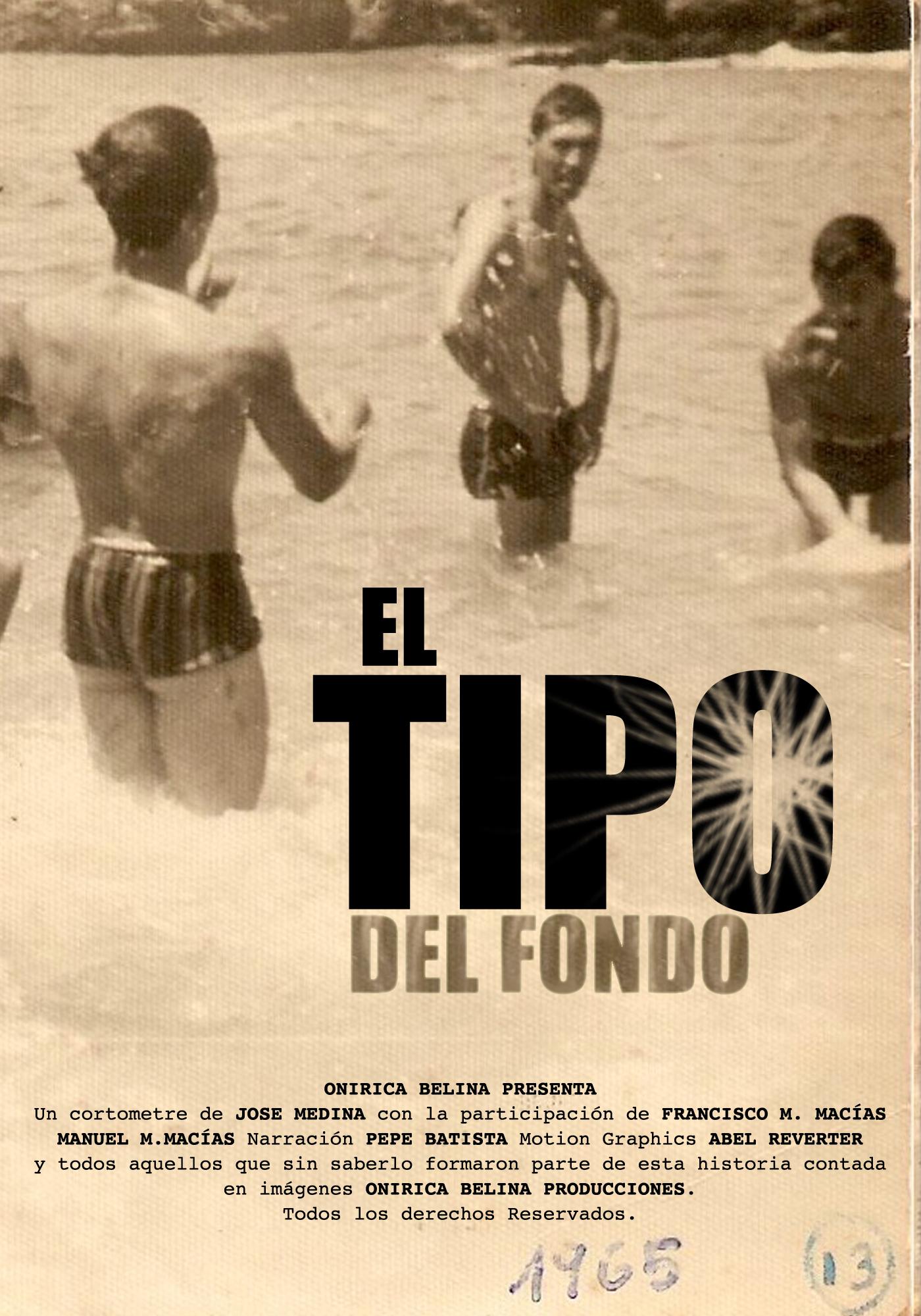 EL TIPO DEL FONDO back ground man Poster